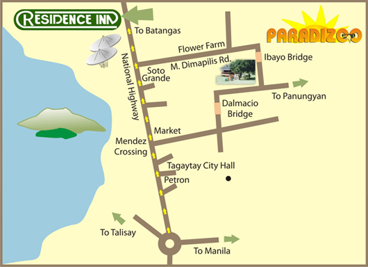 map location paradizoo