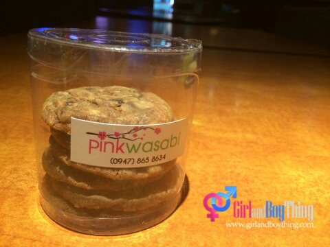 Pink Wasabi Choco Chip Cookies gbt
