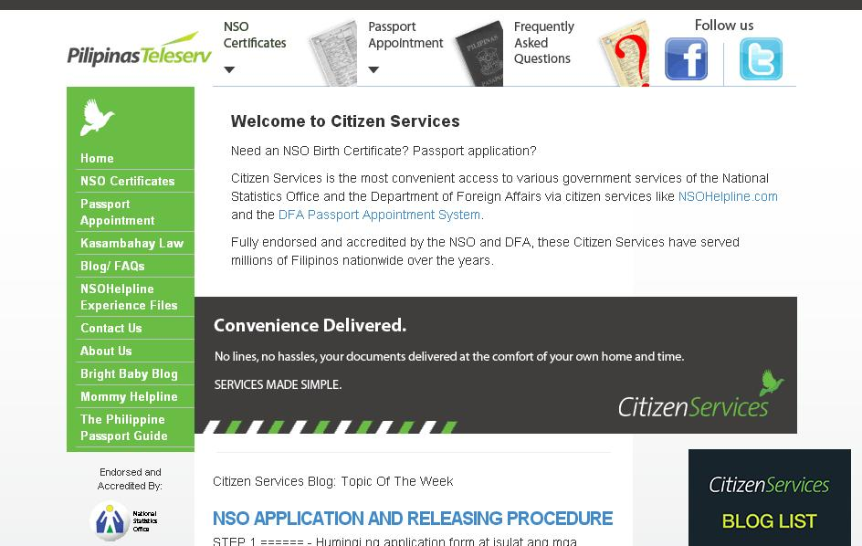 Citizen Services Homepage