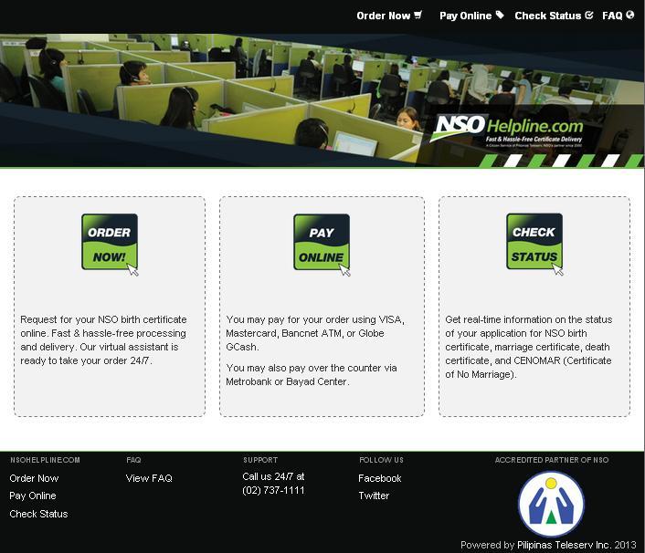 NSOHelpline.com Homepage