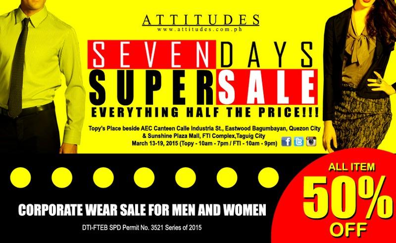 ATTITUDES APPAREL SEVEN DAYS SUPER SALE2
