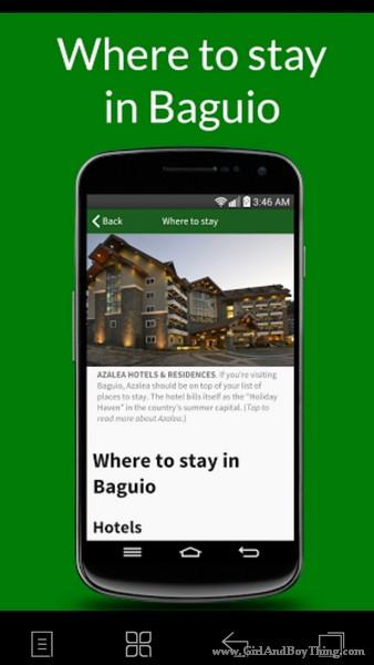 Baguio Guide app