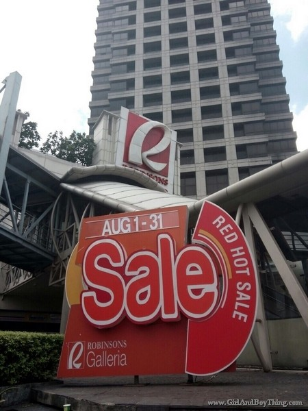 Robinsons galleria red hot sale 1