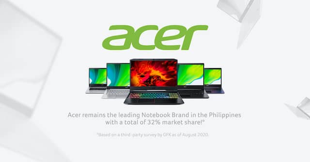 Acer Gains Top Spot in Laptop and Gaming Mobile Computer in PH