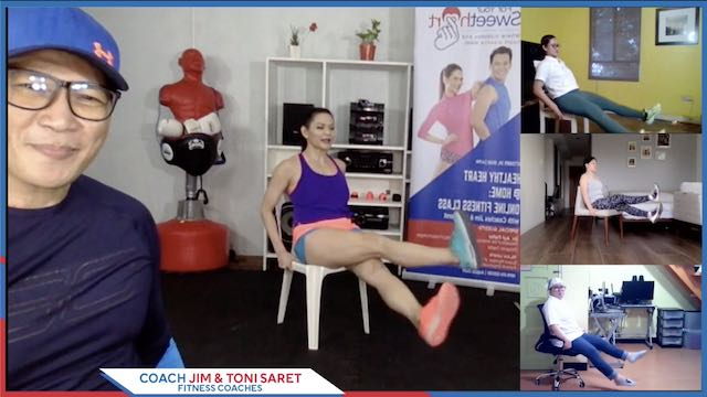 Have a SweetHeart At Home: Coach Jim And Toni Saret Shares Fun In-Place Exercises Online