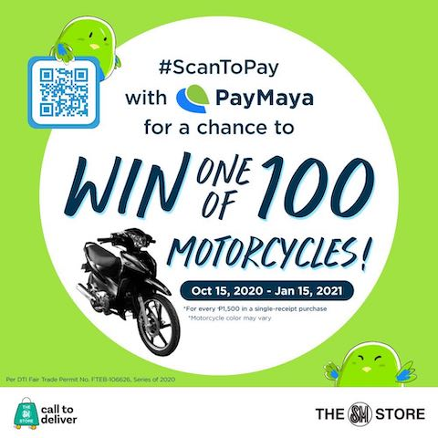 #ScanToPay with PayMaya QR at The SM Store And Win A Motorcycle