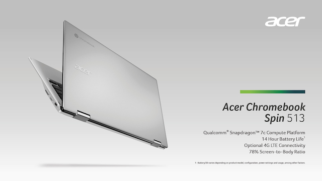 Acer Launches 1st Chromebook Powered By Qualcomm Snapdragon 7c