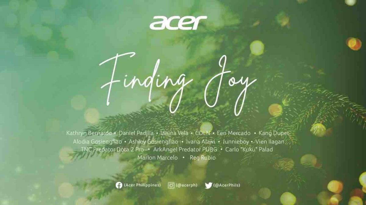 """Acer Philippines Launches Anthem Of Hope """"FINDING JOY"""" For The Holidays"""