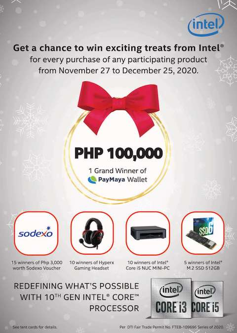 Win Great Holiday Treats As Much As 100,000 From Intel