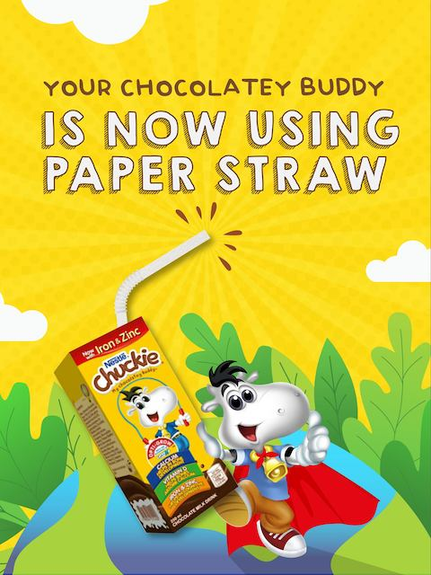 Nestle Chuckie Now Uses Environment-Friendly Paper Straws
