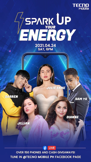 Win 150 Raffle Prizes And More At The TECNO Mobile SPARK UP YOUR ENERGY Talent Show!