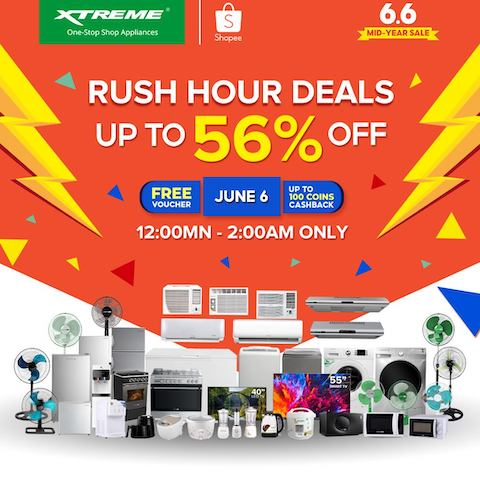 Get Up to 56% OFF on XTREME Appliances in Shopee