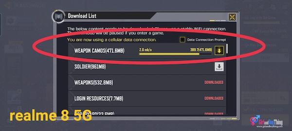 realme 8 5G speed test