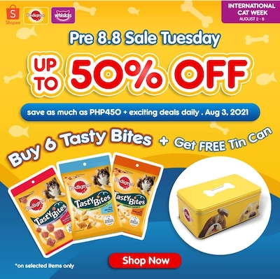 Get up to 50% OFF and a FREE Gift at PEDIGREE Official Store On Shopee 8.8 Sale!