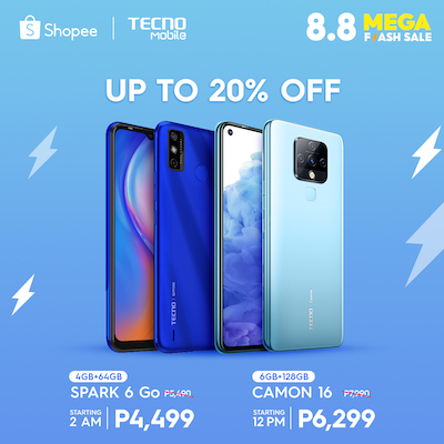 Get Amazing Deals At TECNO Mobile Online Stores This 8.8 Sale!